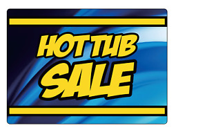 Retail Store Sale Storefront Window Hot Tub Sale Adhesive Vinyl Sign Decal