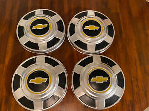 73 87 Chevy 3 4 Ton Dog Dish Hubcaps 12 Set Of 4 Pickup Truck