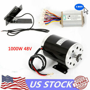 1kw Electric Dc Brush Motor Kit W Base Speed Control Foot Pedal Throttle Hot