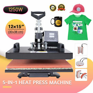 12x15 Double Station 360 Swing Away Heat Press Machine For T shirt Printer
