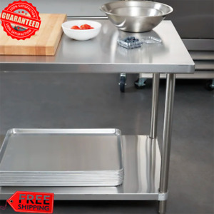 Heavy duty 30 X 36 Stainless Steel Work Prep Food Kitchen Table Commercial