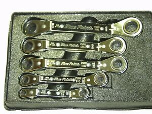 Blue Point 5 Pc Metric Offset Ratcheting Wrench Set Usa