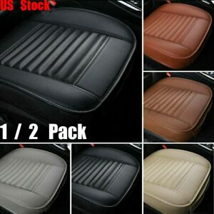 2x 3d Deluxe Car Seat Cover Pu Leather Full Surround Pad Mat Auto Chair Cushion