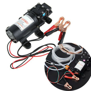 Motor Oil Diesel Fuel Fluid Extractor Electric Siphon Transfer Change Pump 12v