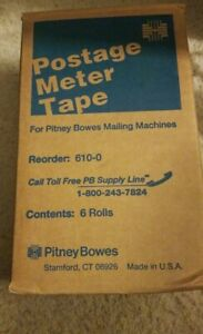 New O S Pitney Bowes Postage Meter Tape For Pitney Bowes Mailing Machine 610 0