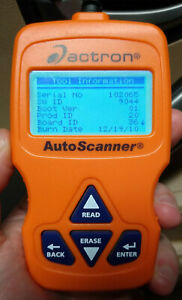 Actron Autoscanner Cp9575 Obdii Obd2 Can Scan Tool Live Data