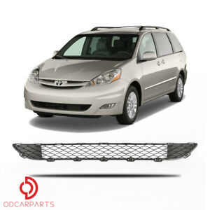 Fits Toyota Sienna 2006 2010 Front Lower Grille Matte Black