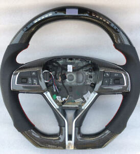 Customized 100 Led Carbon Fiber Car Steering Wheel For Maserati Ghibli