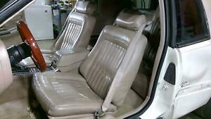 90 93 Buick Riviera Leather Power Seat Set front rear Taupe 65l