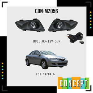 For 2003 2005 Mazda 6 Fog Lights Lamps With Assembly Set L R Side