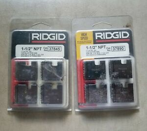 Lot Of 2 Ridgid Pipe Threader Dies 37890 And 37845