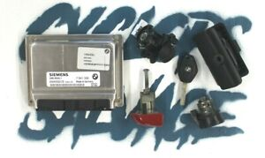 Bmw E46 Ms45 1 Key Ignition Dme Control Unit Trunk Door Lock Cylinders Glove