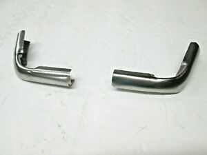 Nos 57 58 Ford Roof Drip Molding Joint Cover B7a 7051762 a Pair