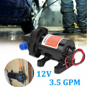 12v High Pressure Water Diaphragm Pump 3 5 Gallons min 3 5 Gpm Stainless Steel