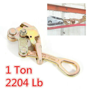 Sale Alloy Steel 1 Ton Cable Wire Rope Haven Grip Jaw Puller Pulling 2204 Lbs