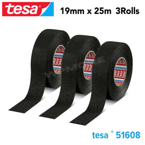 Tesa 51608 Pvo Soft Pet Fleece Tape 19 Mm X 25 M Roll For Flexibility 3 Pcs Pack