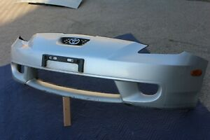 00 02 Toyota Celica Front Bumper Cover Valance Grill Light Silver Genuine Oem