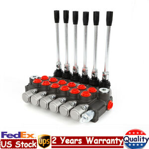 6 Spool Hydraulic Directional Adjustable Control Valve 11 Gpm Double Acting Usa