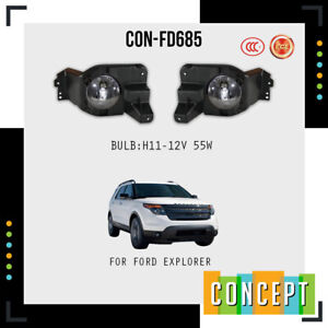 For 2011 2015 Ford Explorer Fog Lights Lamp L r Side