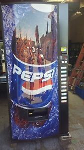 Royal Vendors Pepsi Cola Vending Machine 768 10 Melin Iv Refurb 12 16 20 Oz