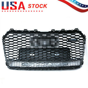 For Audi A7 S7 Rs7 Style 2016 2018 Front Honeycomb Mesh Grill Grille W Quattro
