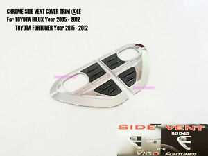 Chrome Side Vent Door Cover Trim For Toyota Hilux Vigo Fortuner Mk6 2005 2012