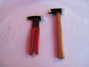 Tire Repair Tools Wheel Weight Tool Plyers 2 piece With Wood Handle Soft Head