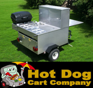 Hot Dog Cart Vending Concession Trailer Stand New Gladiator Grill Hot Dog Cart