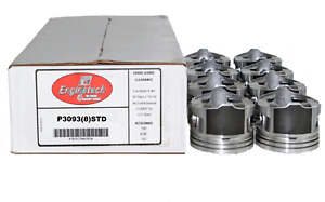 Standard Bore Flat Top Claimer Pistons For Chevrolet 383 Stroker W 5 700 Rods