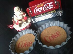 Coca-Cola Napkin Holder - Coasters - Candle Top - FREE SHIPPING