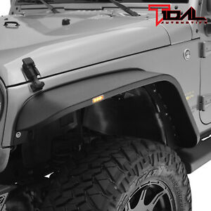 Tidal Fender Flares Front Regular Width Led Steel Fits 07 18 Jeep Wrangler Jk