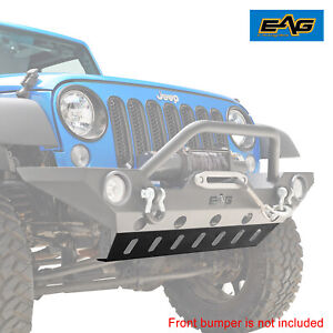 Eag Fit 07 18 Jeep Wrangler Jk Skid Plate For Front Bumper Jjkfb001