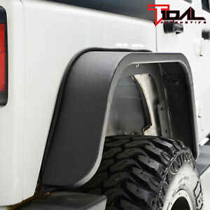 Tidal Fender Flares Rear 2pcs Edge Steel Fits 07 18 Jeep Wrangler Jk