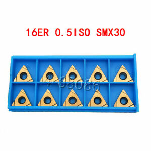20pcs High Quality 16er 0 5iso Smx30 Carbide Inserts Threading Inserts For Steel