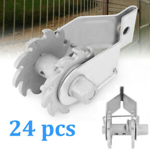 24 Pcs Inline Ratchet Wire Strainer Tensioner Fencing Electric Farm Fence Silver