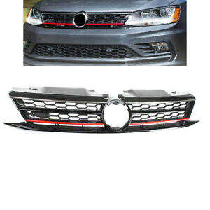 Front Bumper Grille Radiator Honeycomb Grill Fit For Vw Jetta 2015 2016 2017