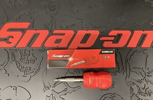 Snap on Tools Stubby Red Hard Grip Ratcheting Screwdriver Ssdmr1ar Brand New