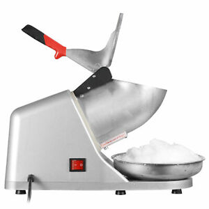 Electric 143lbs Snow Cone Ice Shaver Maker Machine Ice Crusher Sliver In Kitchen