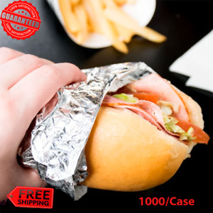 1000 case Insulated Foil Sandwich Food Wrap Sheets Grease resistant Wrapper