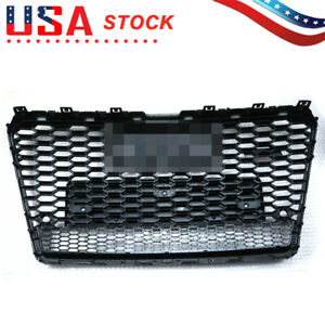 For Audi A7 S7 Rs7 Style 2011 2014 Front Honeycomb Mesh Grill Grille W Quattro