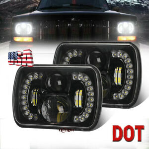 Newest Dot 5x7 7x6 Led Projector Headlights For Jeep Wrangler Yj Cherokee Xj