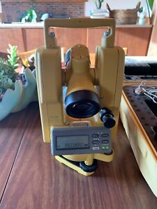 Topcon Dt 209l Digital Theodolite With Laser Leica Trimble Total Station W Case