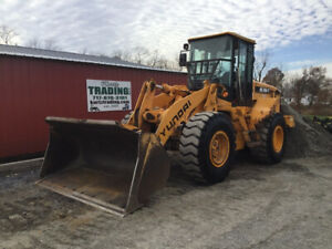 2007 Hyundai Hl740 7 Wheel Loader W Cab Heat A c One Owner Only 1900 Hours