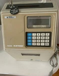 Amano Microder Mjr7000 Digitial Computerized Employee Time Card Punch Clock Used