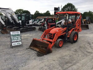 2014 Kubota B26 4x4 Diesel Hydro Compact Tractor Loader Backhoe Only 2000hrs