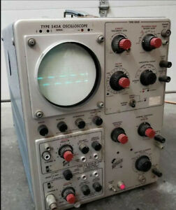 Vintage Tektronix Oscilloscope Type 543a 2 Channel O scope Dso Cro Powers On