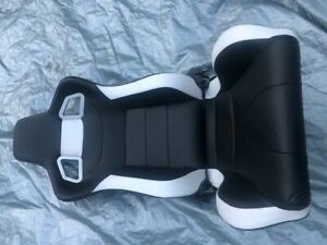 2pcs Sports Style Pvc Leather Racing Seats Reclinable Bucket Seat With Slider