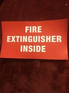 lot Of 10 fire Extinguisher Inside Self adhesive Vinyl Sign s 7x4