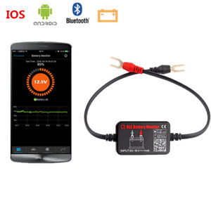 12v Bluetooth 4 0 Car Ble Battery Monitor Tester Analyzer For Android Ios Iphone