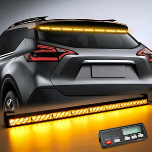 36 Traffic Advisor Emergency Flash Strobe Light Bar Amber Display Controller